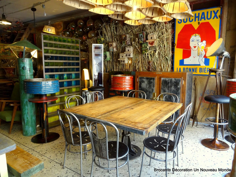 Brocante d coration un nouveau monde visite de la boutique 16 juillet 2016 - Brocante mobilier industriel ...