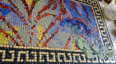 My mosaic border patterns are available for sale for use in your mosaics.