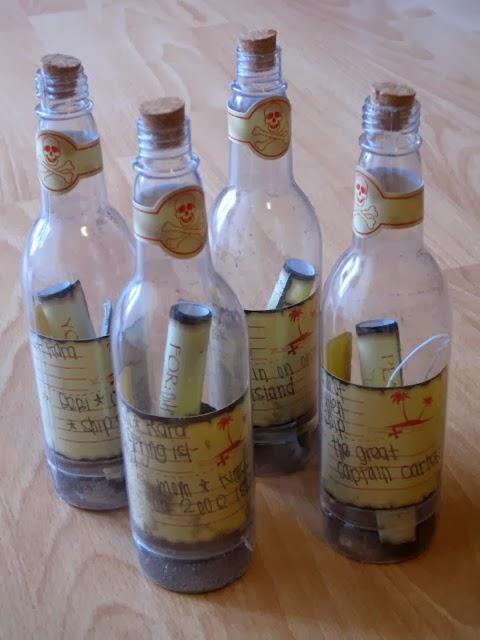 Invitacion mensaje en la botella