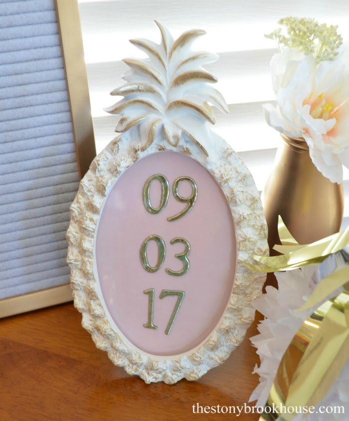 Date Pineapple Frame