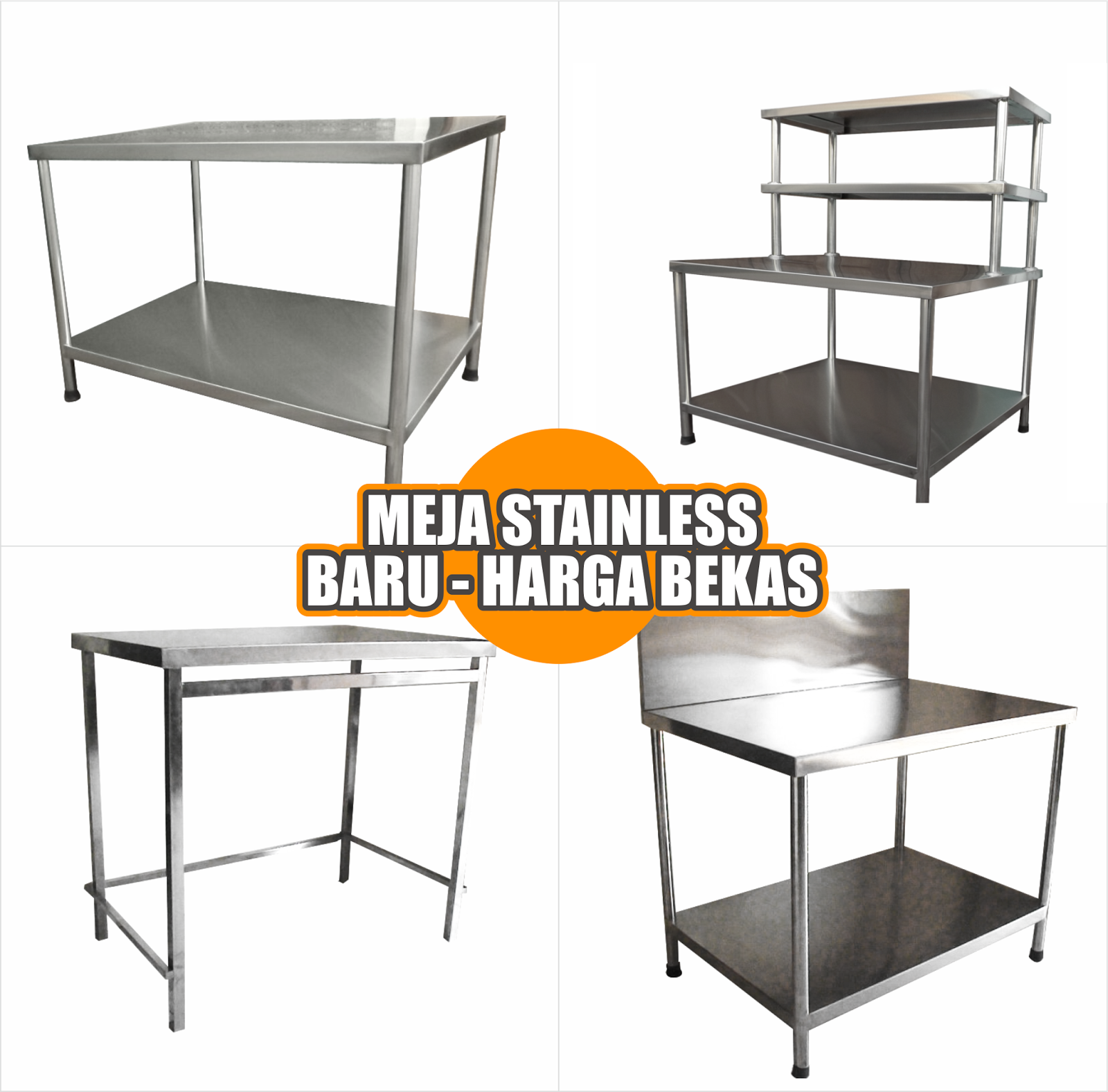Jual meja stainless steel harga bekas for Harga kitchen set stainless steel