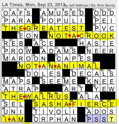 Dating from time immemorial crossword