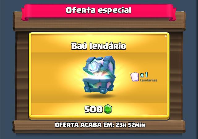 Comprar Baú Lendário no Clash Royale