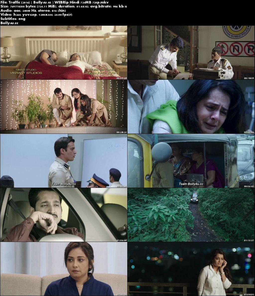 Traffic 2016 WEBRip 700MB Full Hindi Movie Download 720p ESub