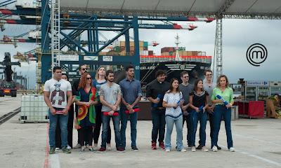 Competidores no maior porto da América Latina - Divulgação/Band