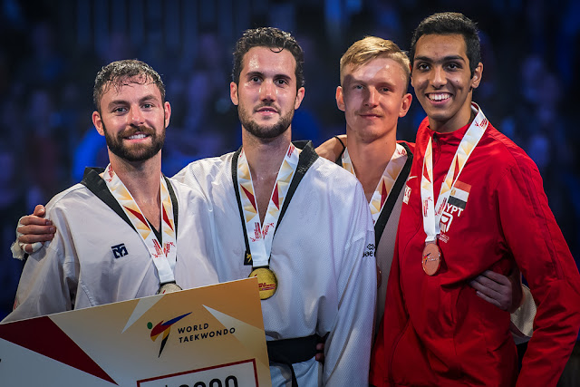 Un oro y dos bronces para los españoles en el Grand Prix de Manchester 2018