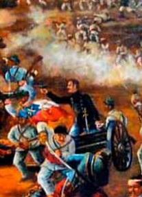 Imagen de la Batalla de Junín a colores