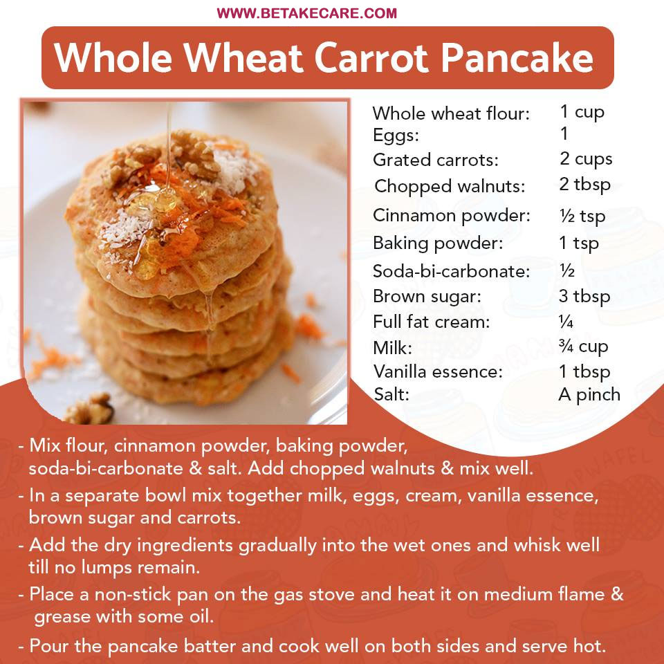 Whole Wheat Carrot Pancake