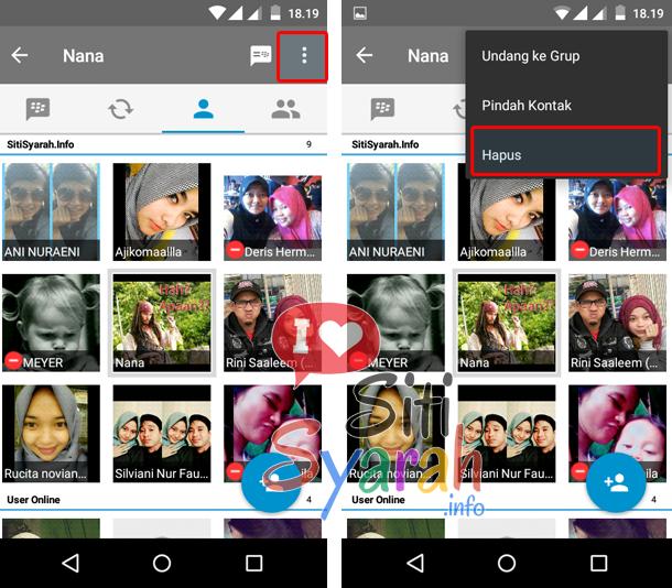 Cara Hapus Kontak di BBM terbaru Android