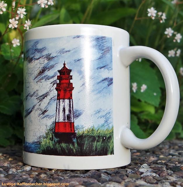 Leuchtturm Kaffeepott