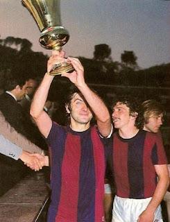 Bulgarelli con la Coppa Italia, 1974.