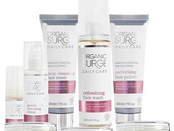 Organic Surge : Reviving Eye Gel, Deep Cleansing Mask & Nourishing Rose Day Cream