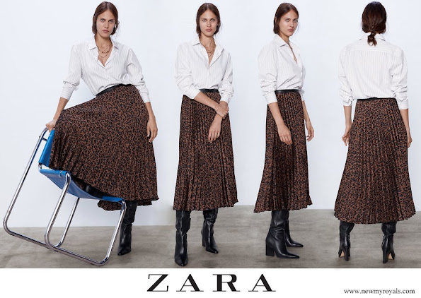 Kate Middleton wore Zara animal print skirt