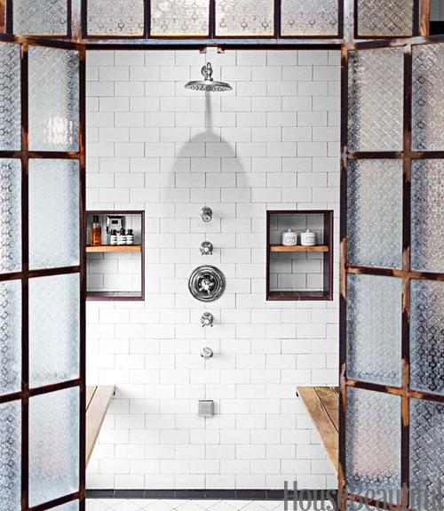 An Industrial Chic Bathroom In Los Angeles!