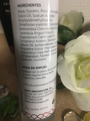 hidratante vaginal, gel vaginal, dso, dso vaginal, elixir dragó, pachuli, sandalo, aceite de jojoba, aceite de almendras, lavanda, sequedad vaginal,