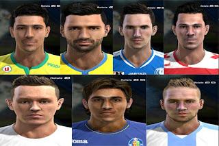 Faces: Adlung , Damian Suarez, Aird, Hugo Rodriguez, Dubois, Poletanovic, Radovanovic, Pes 2013