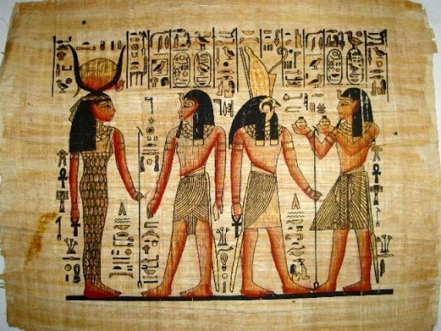 Papirüs'e yapılmış resimler