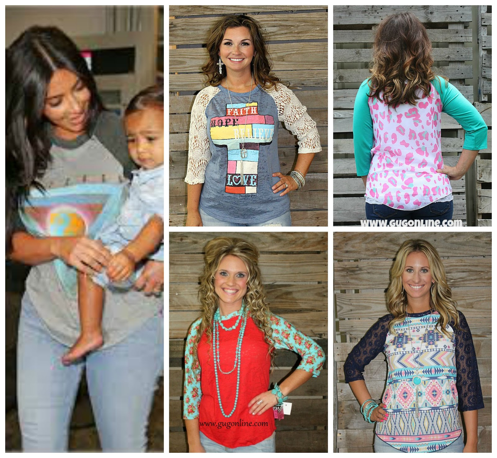 4a6847e5b56e ... have a little extra spice than your normal tee, with designed or  crochet sleeves. Don't miss out on these adorable baseball tees at Giddy Up  Glamour