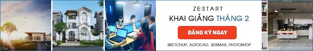 khóa học 3dsmax vray sketchup autocad photoshop kiến trúc tại tphcm