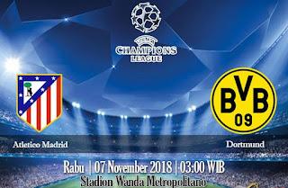 Prediksi Atletico Madrid vs Dortmund 7 November 2018