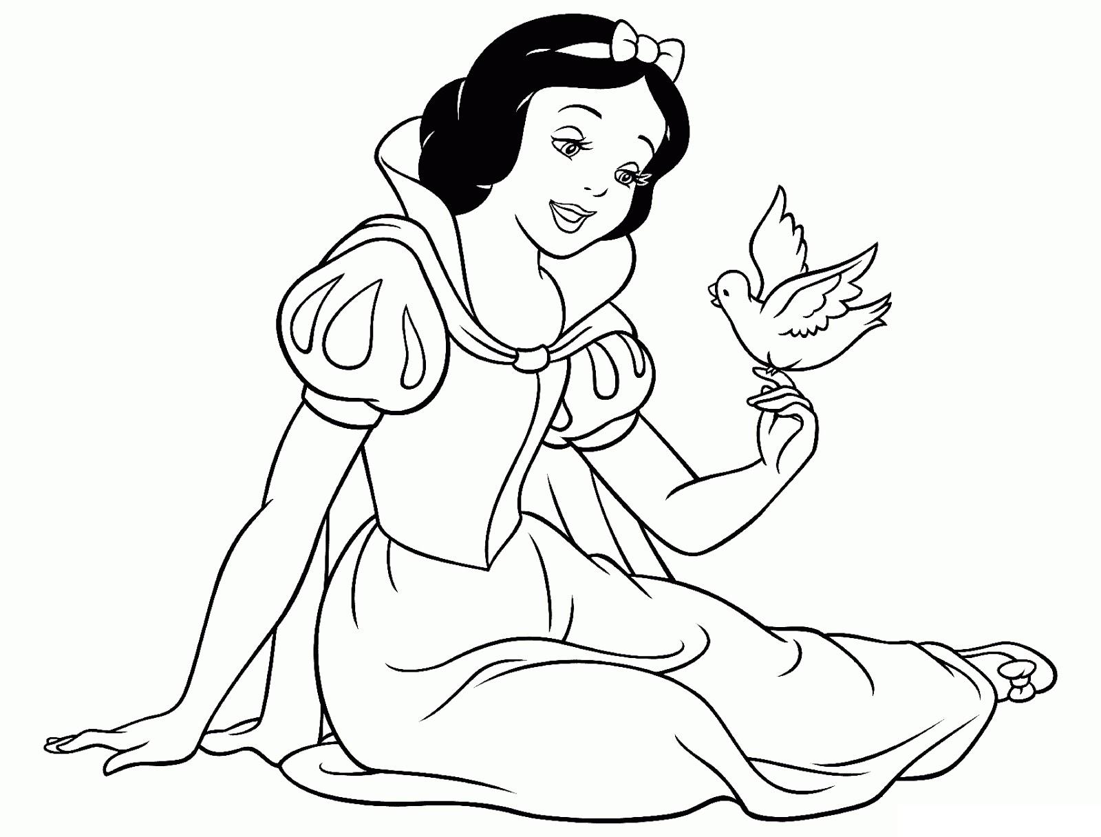 Yeni çocuk Boyamaları En Güzel Pamuk Prenses Boyama Sayfalari