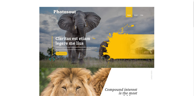 Photosout Blogger Template