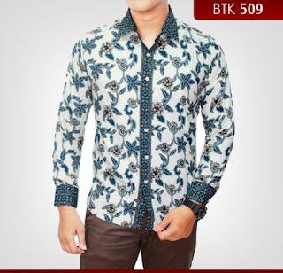 Baju kemeja batik pria desain mewah