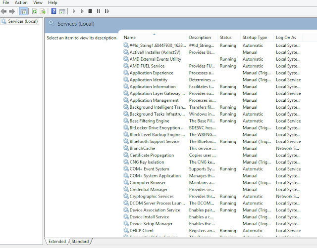 Daftar services yang ada pada Windows aman di hentikan