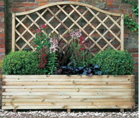 Versatile Venice Wooden Garden Planter with Integrated Trellis