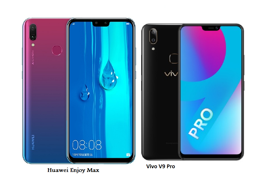 Vivo V9 Pro Vs Huawei Enjoy Max Comparisons