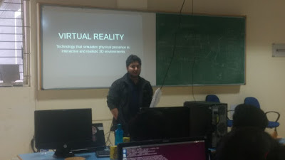 FOSS Wave visits FOSS Camp: Sumantro Mukherjee introduces web-based virtual reality to students
