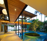 contemporary house with swimming pool