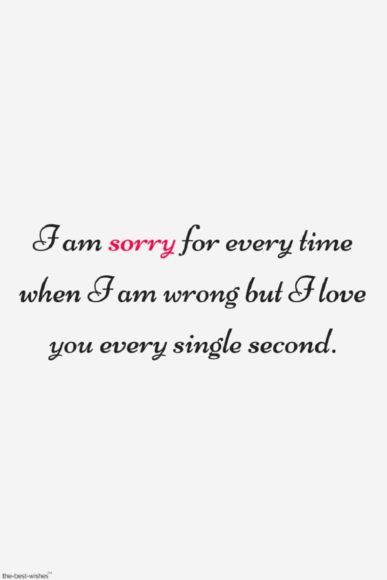 sorry love quotes for him