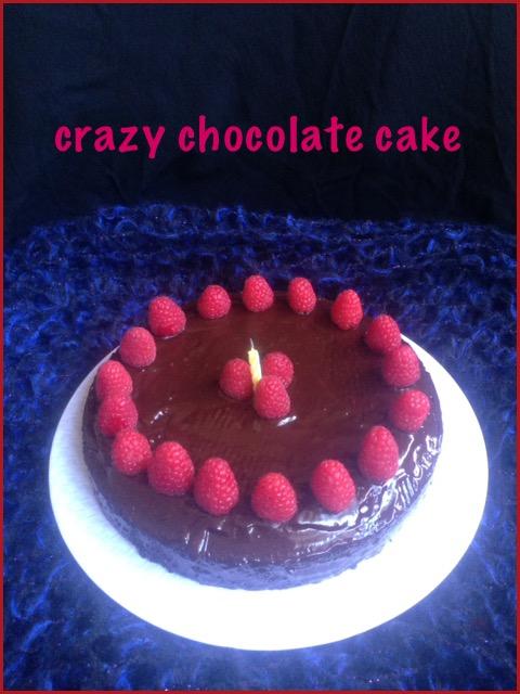 Crazy  Chocolate Cake ~ Blog Anniversary Special