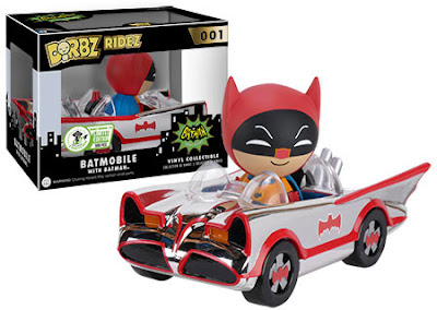 Emerald City Comicon 2016 Exclusive Chrome Plated 1966 Batmobile DC Comics Dorbz Ridez with Batman Dorbz Vinyl Figure by Funko