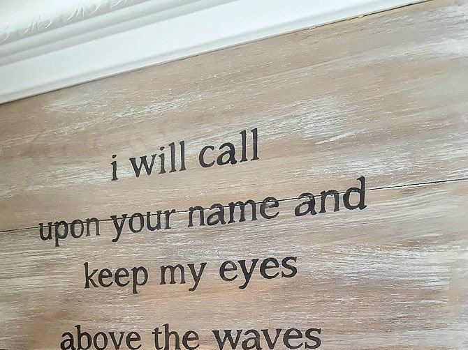 How to Make a Driftwood Sign with Lyrics