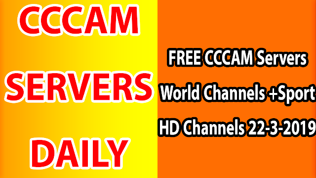 FREE CCCAM Servers World Channels +Sport HD Channels 22-3-2019