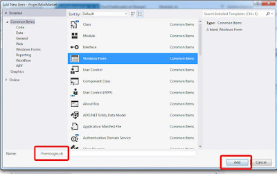 Membuat Form Login Aplikasi Mini Market VB .Net 2012