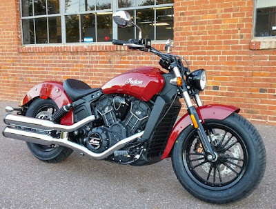 2016 Indian Scout Sixty Cruiser Motorcycle red color image