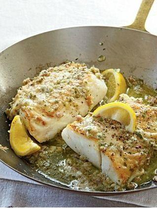 Roast Cod With Garlic Butter
