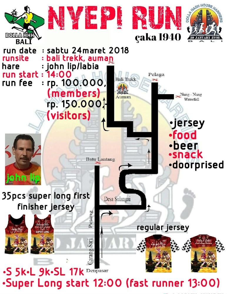 Nyepi Run Route 2018