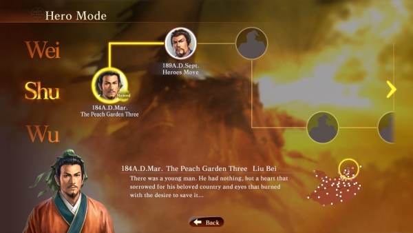 Hero Mode โหมดการเล่นที่สอนวิธีเล่น และเล่าเรื่องสามก๊กไปพร้อม ๆ กัน