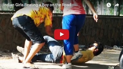 Indian Girls Beating a Boy on the Road | viral videoz 2016