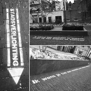 Krijtspray gedichten voor Stadsverlichting Deventer