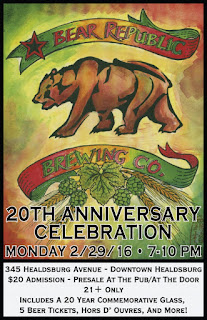 Bear Republic Brewing Company Celebrates 20 Years of Business