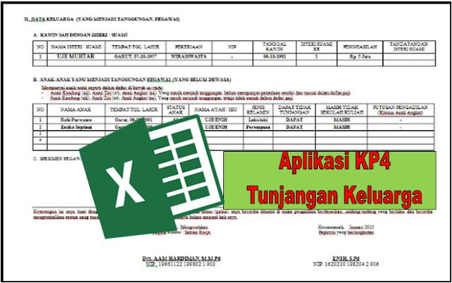 Aplikasi Pengisian Tunjangan Keluarga KP4 Terbaru Tahun 2019