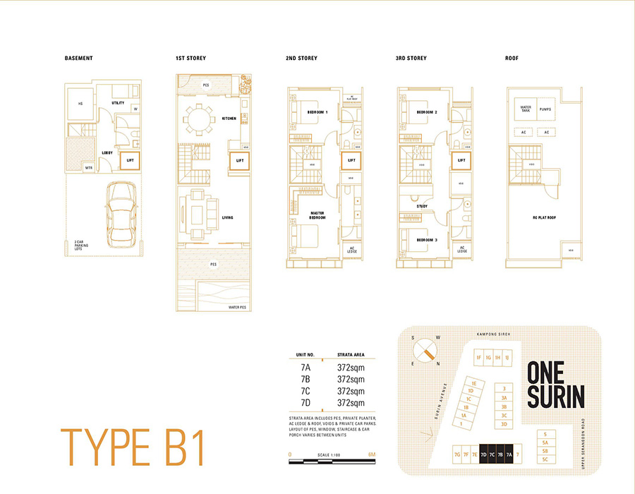 One Surin Floor Plan Type B1