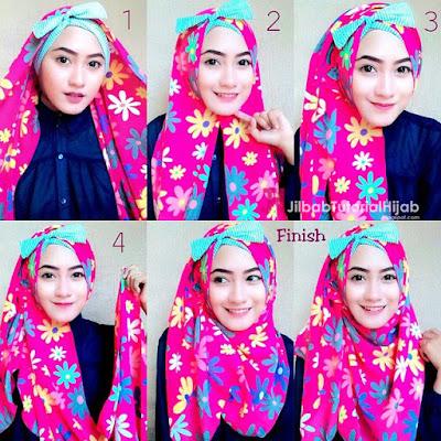 tutorial cara menggunakan hijab modern yang unik Tutorial Cara Memakai Hijab Modern yang Unik dan Cantik