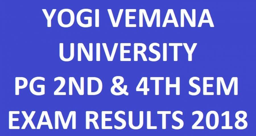 YVU PG 2nd & 4th Sem Results