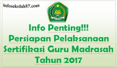 Info Penting!!! Persiapan Pelaksanaan Sertifikasi Guru Madrasah Kemenag Tahun2017